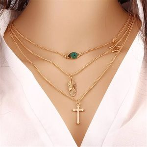 Jewelry - Gold Cross Layer Necklace